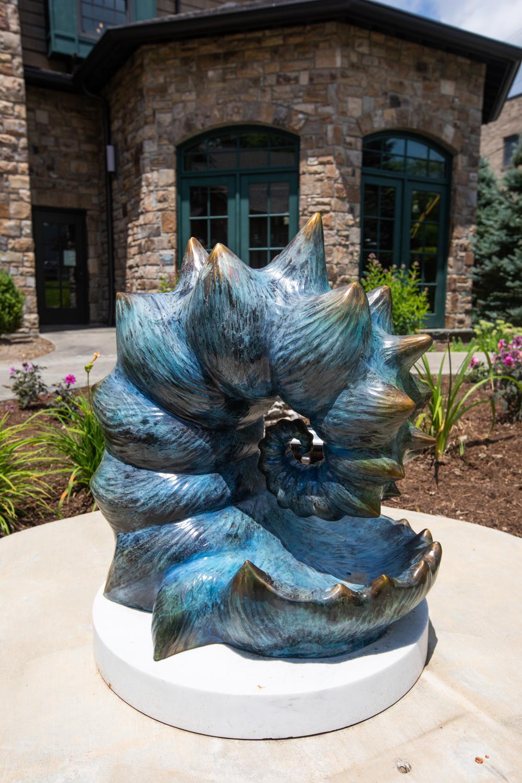 Blue Nautilus Sculpture