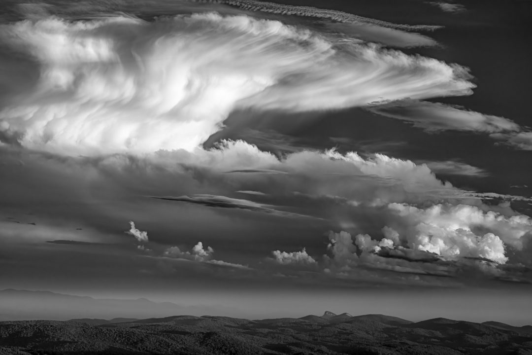 Skip Sickler; Cloud Over Table Rock Mountain; Landscape category winner; 2020 Appalachian Mountain Photography Competition & Exhibition.