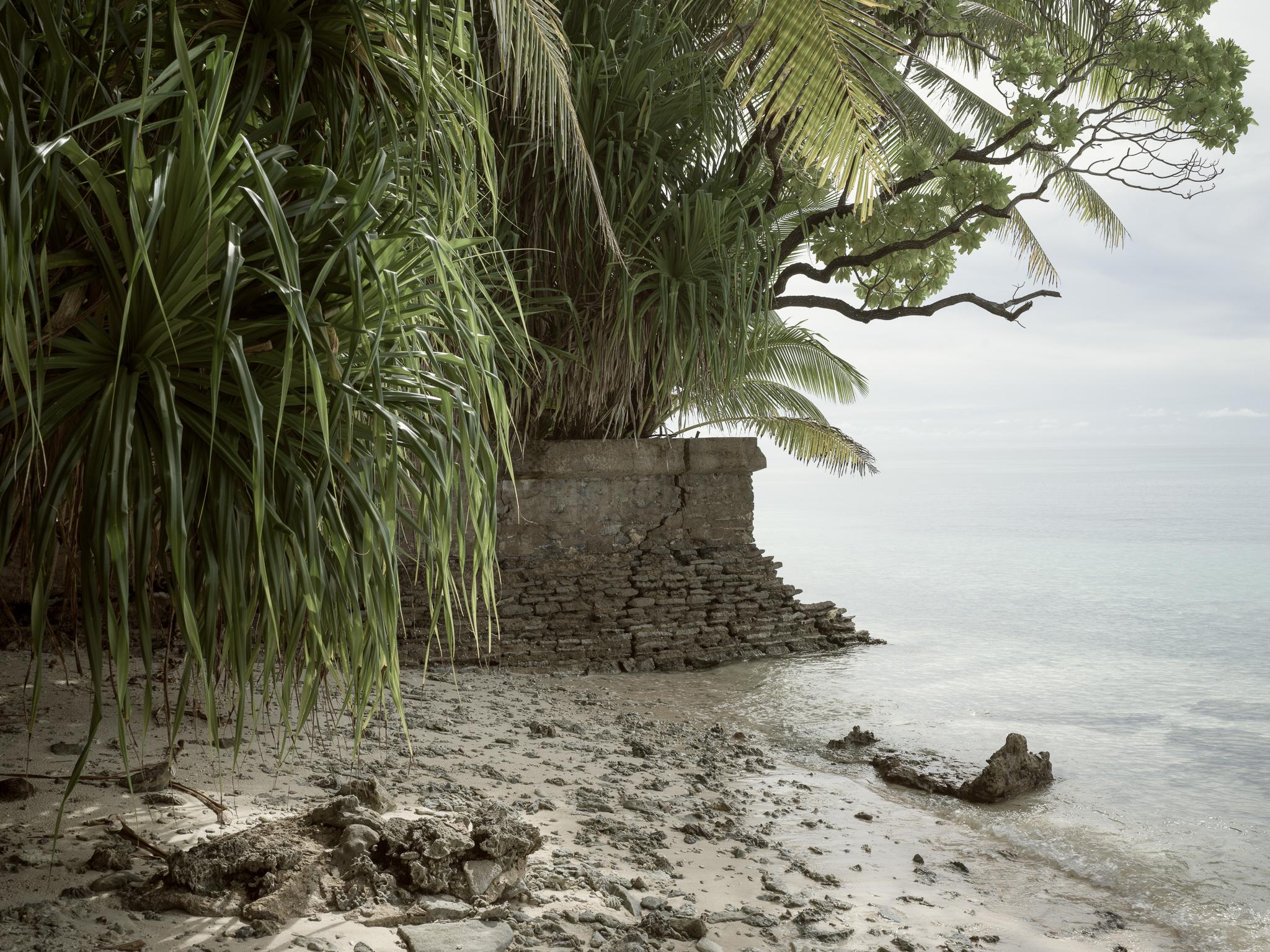 Japanese built seawall, Aineman Island, Jaluit Atoll, Marshall Islands_Matthew Arnold