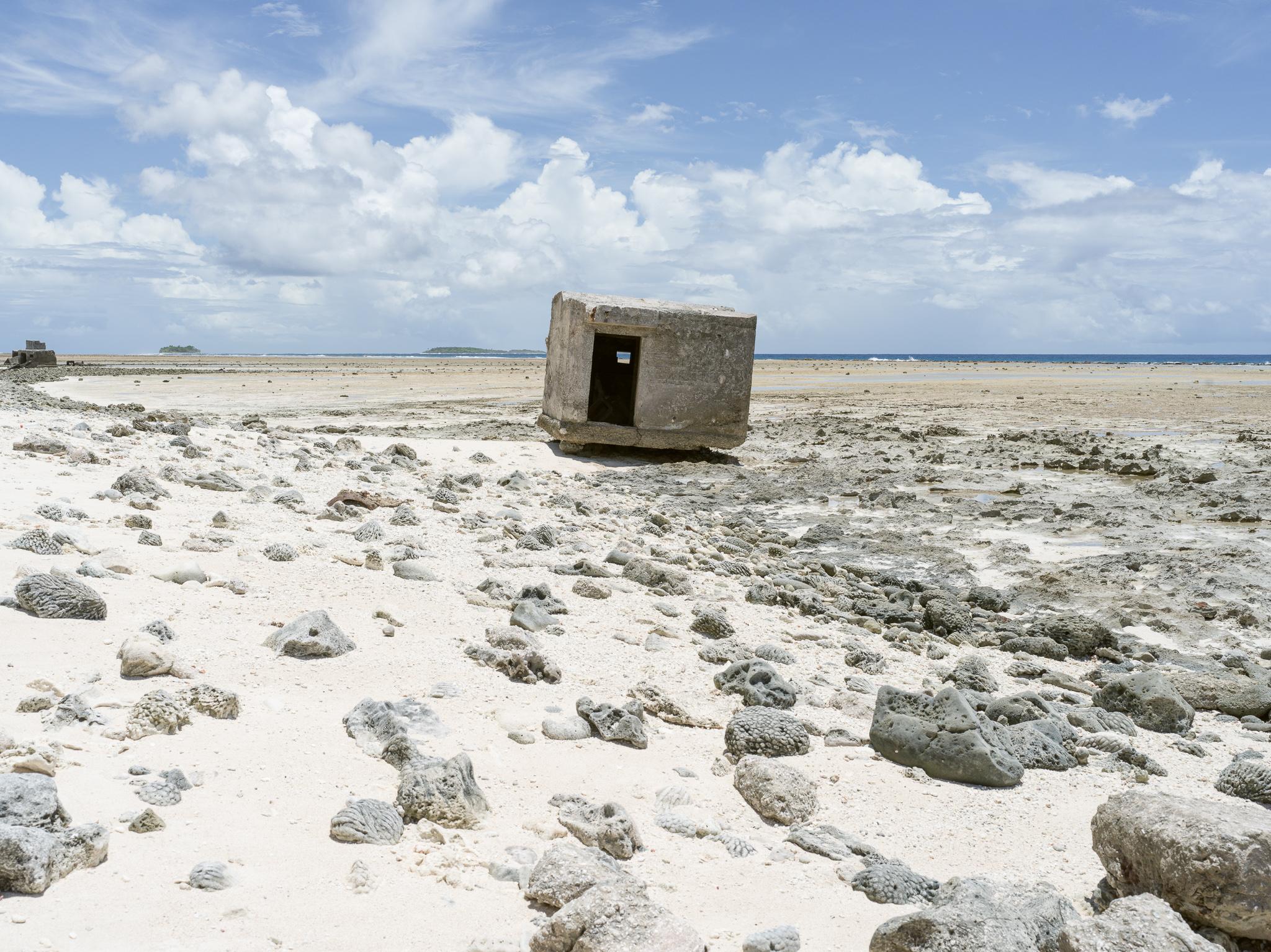 Japanese pillbox dislodged by the sea, Taroa Island, Maloelap Atoll, Marshall Islands_Matthew Arnold