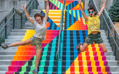 Providing a Splash of Happy: New Vibrant Turchin Stair Mural Unveiled