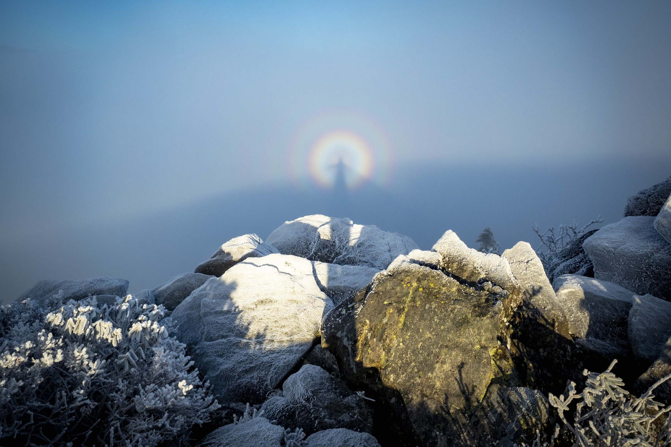 William Mauney; Sugar Mountain Brocken Spectre; People's Choice Award; 2020 Appalachian Mountain Photography Competition & Exhibition.