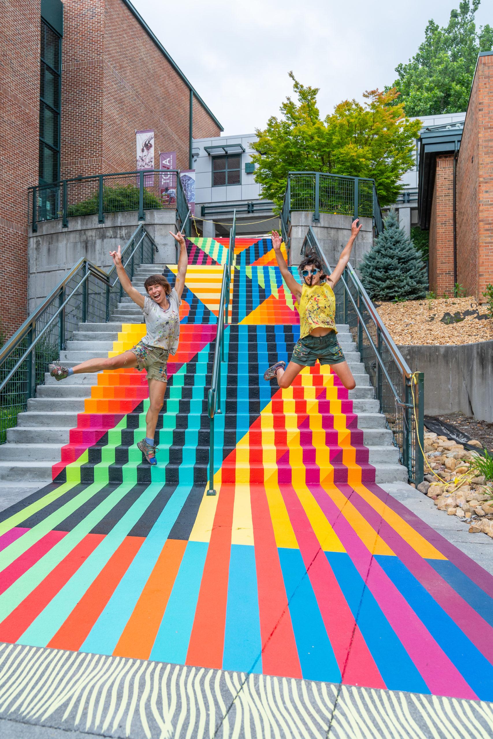 Stair mural
