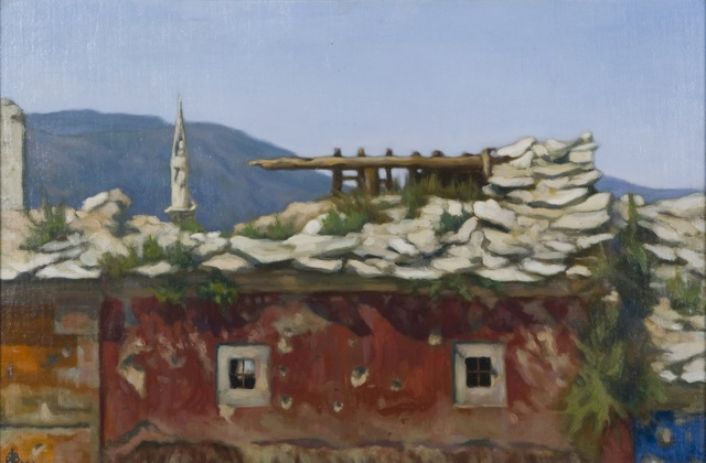Ruined Landscapes: Paintings of the Balkan War Zone by Laura Buxton